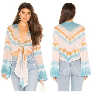 Young Fabulous & Broke Free Fall Tie Dye Top L